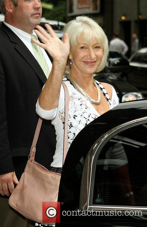 Helen Mirren and David Letterman 4