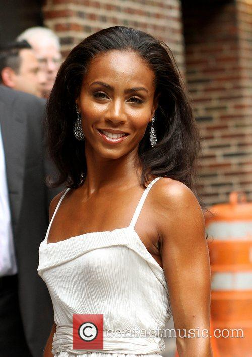 Jada Pinkett-smith and David Letterman 2