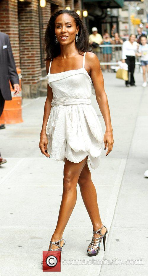 Jada Pinkett-smith and David Letterman 6