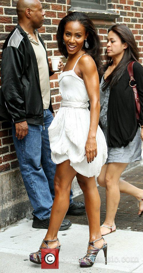 Jada Pinkett-smith and David Letterman 4
