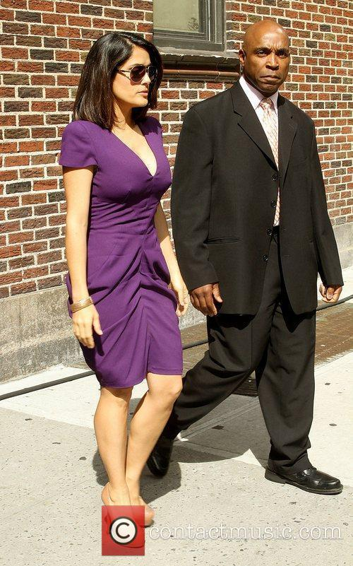 Salma Hayek and David Letterman 10