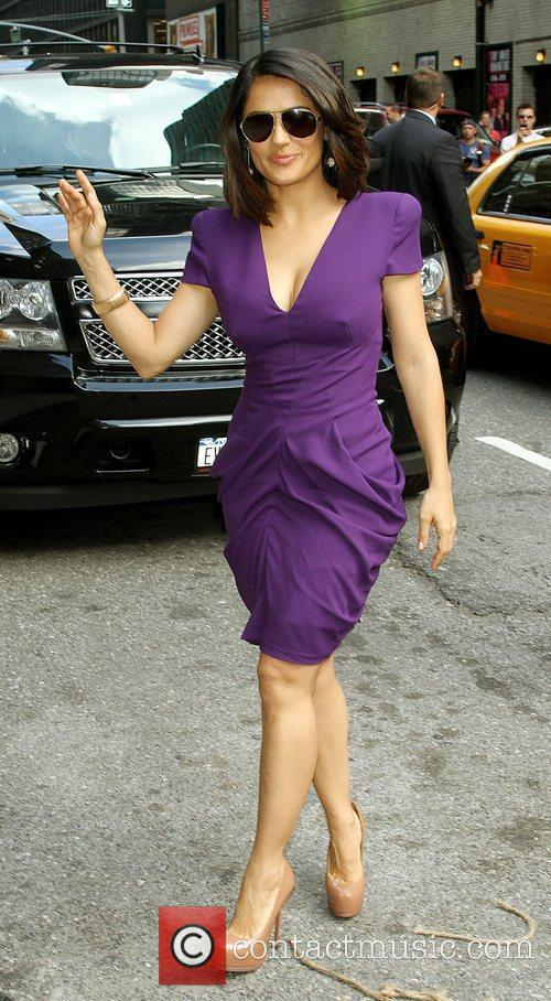 Salma Hayek and David Letterman 11