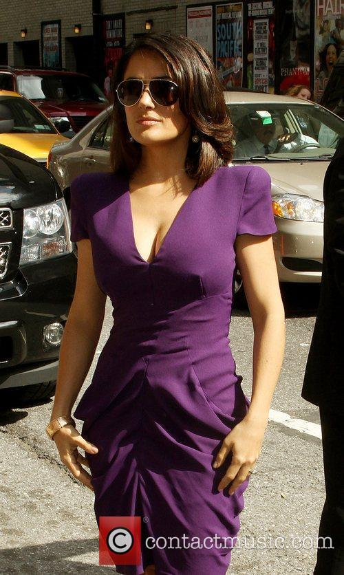 Salma Hayek and David Letterman 8