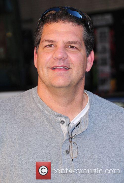 Mike Greenberg,  outside The Ed Sullivan Theater...