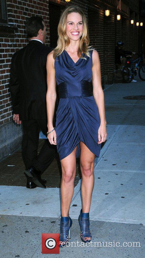 Hilary Swank ,  outside The Ed Sullivan...
