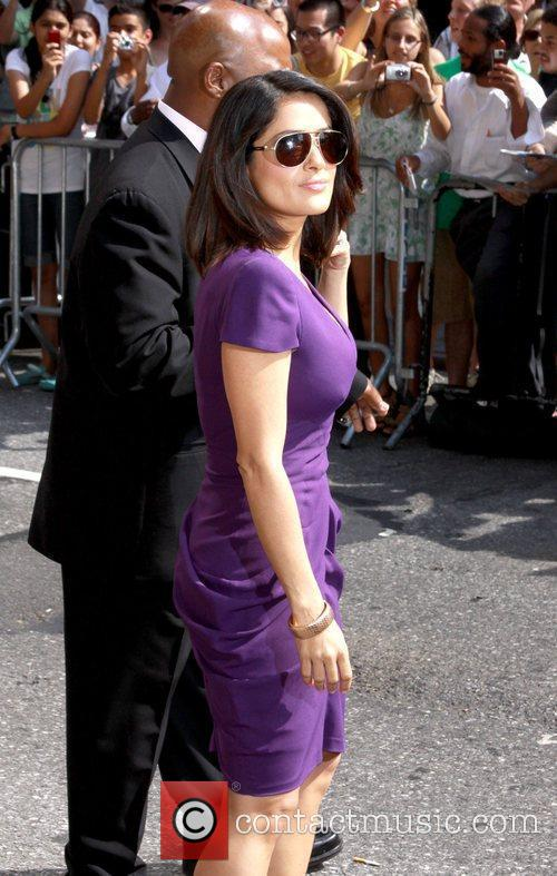 Salma Hayek and David Letterman 6