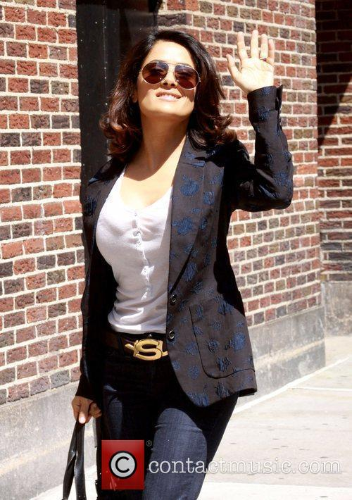 Salma Hayek and David Letterman 5