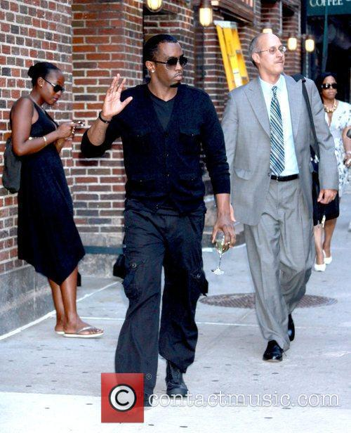 Sean Combs and David Letterman 1