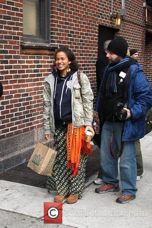 Nneka and David Letterman 1