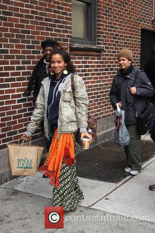 Nneka outside the Ed Sullivan Theater for the...