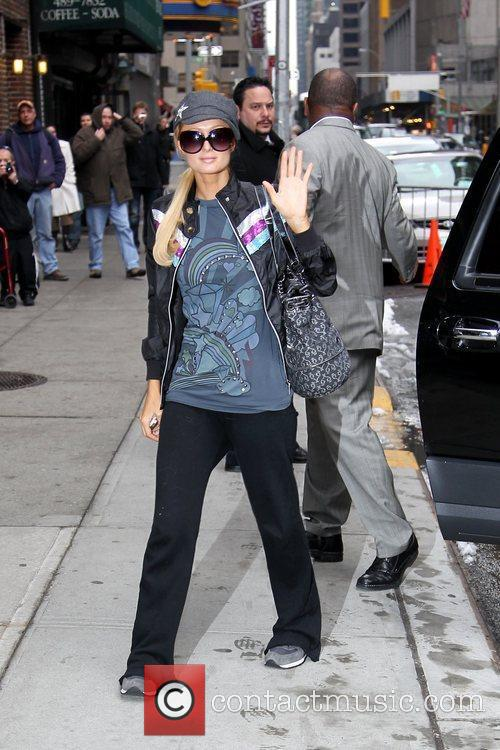 Paris Hilton and David Letterman 8