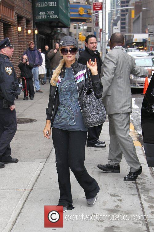 Paris Hilton and David Letterman 9