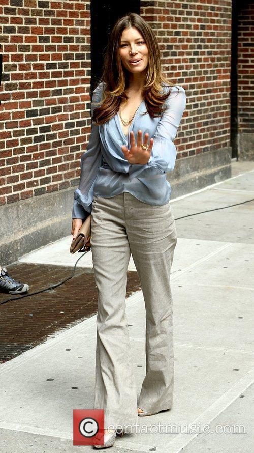 Jessica Biel and David Letterman 6