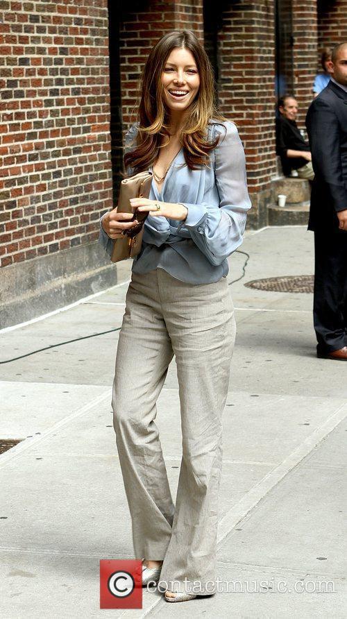 Jessica Biel and David Letterman 5