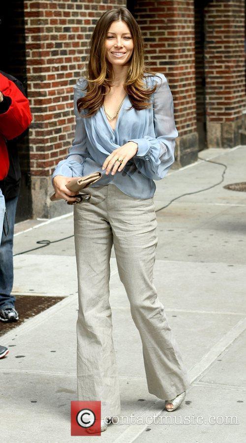 Jessica Biel and David Letterman 4