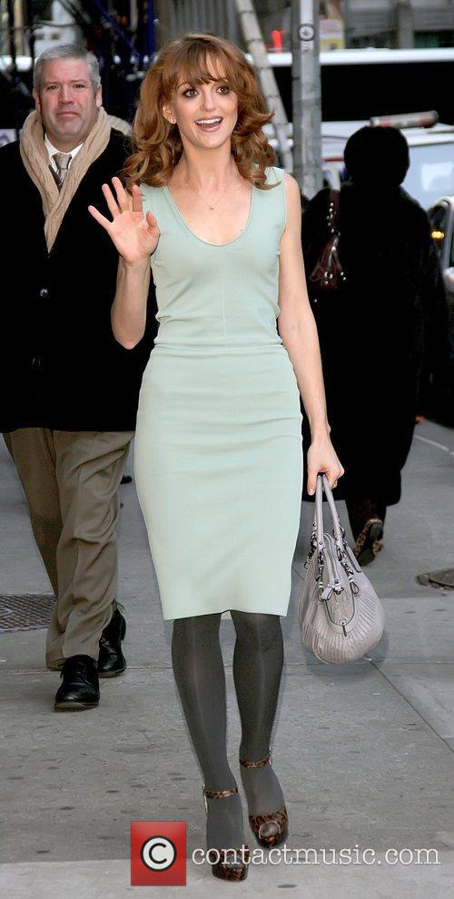 Jayma Mays outside The Ed Sullivan Theater for...
