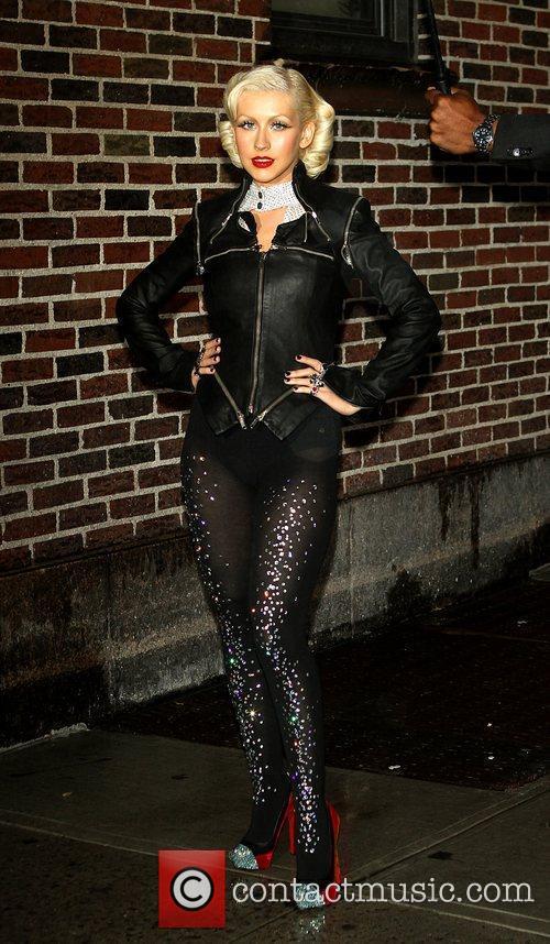 Christina Aguilera and David Letterman 10
