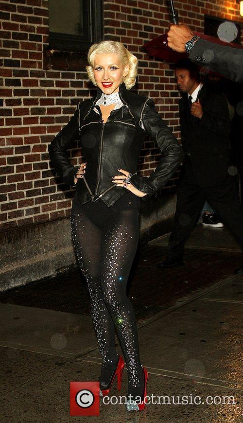 Christina Aguilera and David Letterman 7