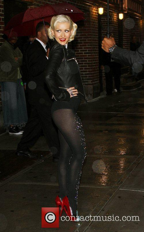 Christina Aguilera and David Letterman 11