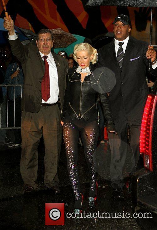 Christina Aguilera and David Letterman 4
