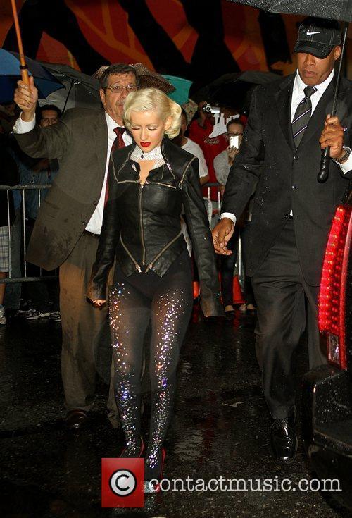 Christina Aguilera and David Letterman 17