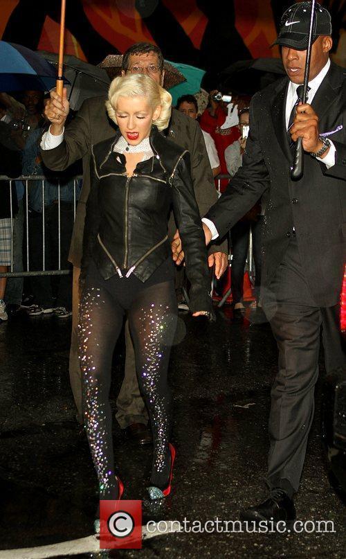 Christina Aguilera and David Letterman 1