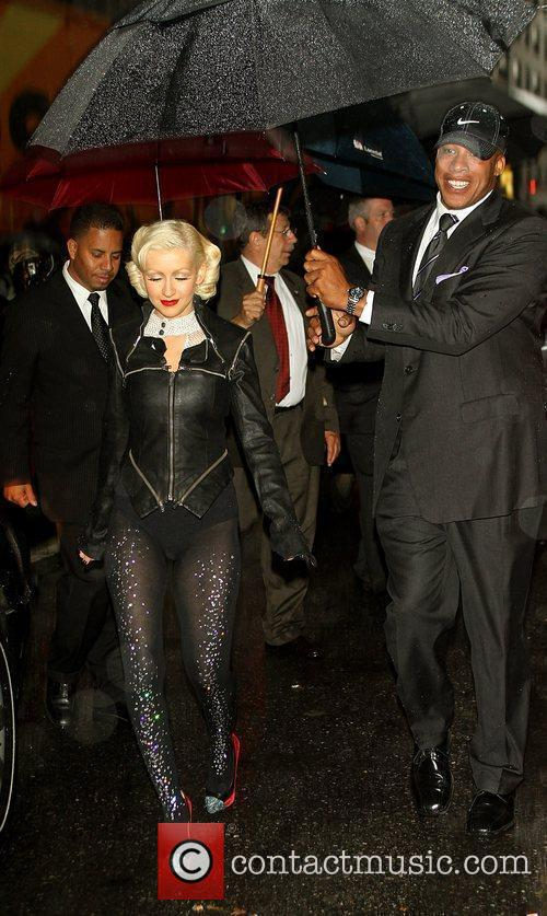 Christina Aguilera and David Letterman 5