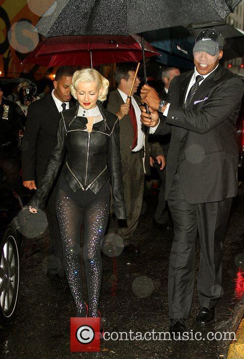 Christina Aguilera and David Letterman 2