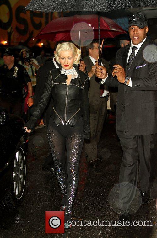 Christina Aguilera and David Letterman 9