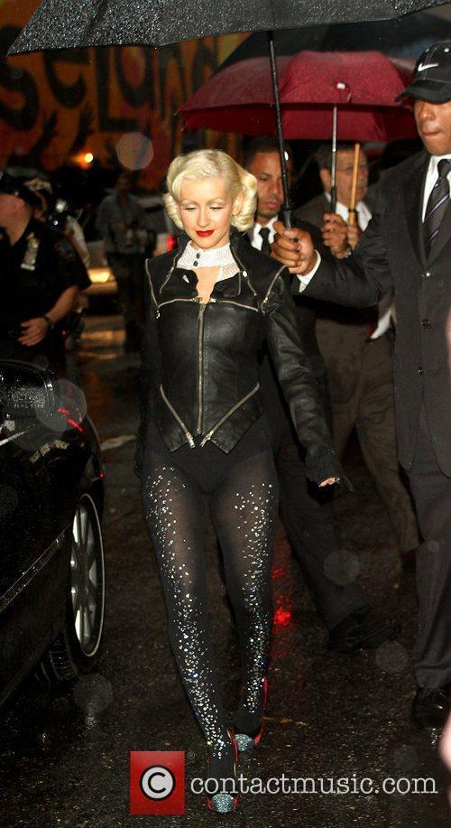 Christina Aguilera and David Letterman 12