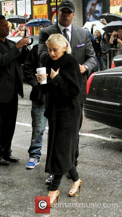Christina Aguilera and David Letterman 16