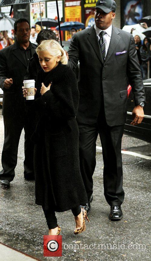 Christina Aguilera and David Letterman 3