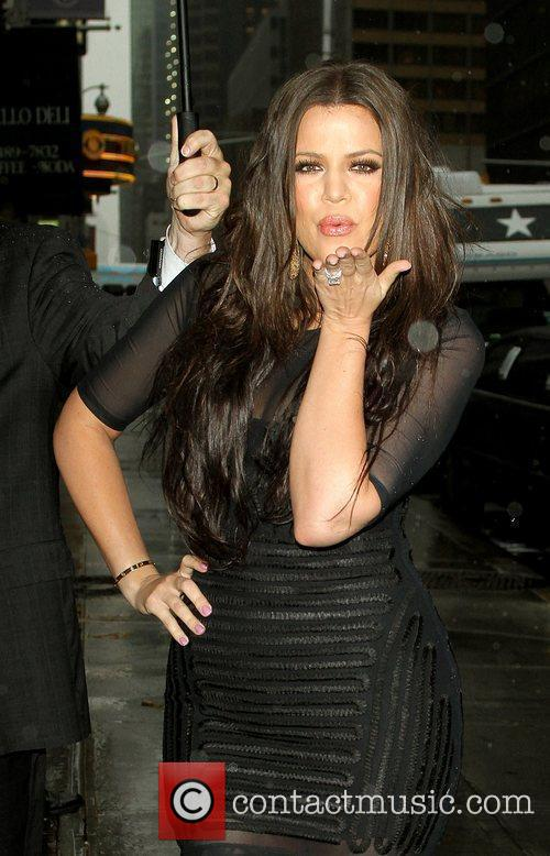Khloe Kardashian and David Letterman 4