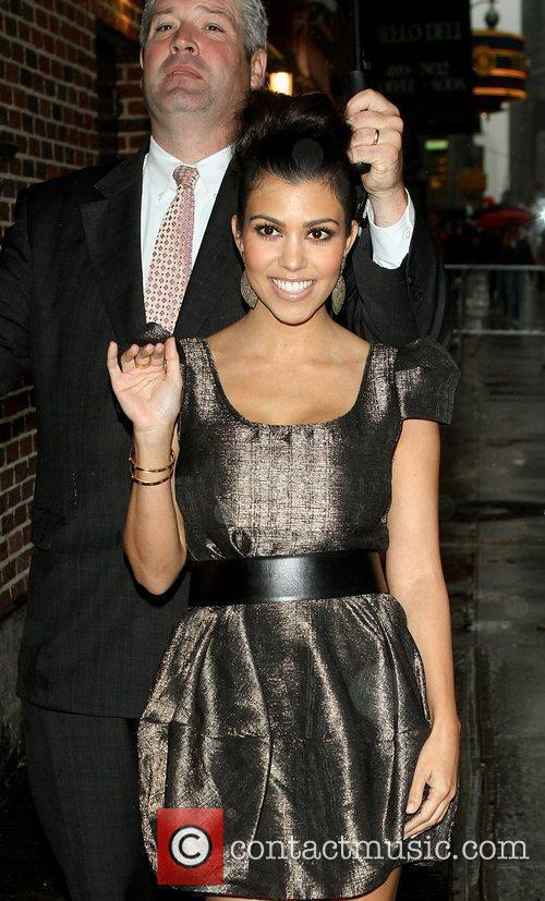 Kourtney Kardashian and David Letterman 5