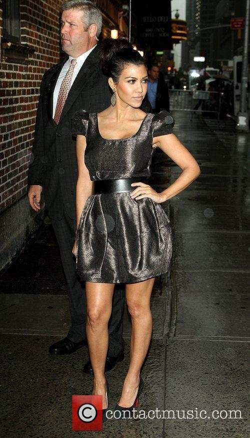 Kourtney Kardashian and David Letterman 6