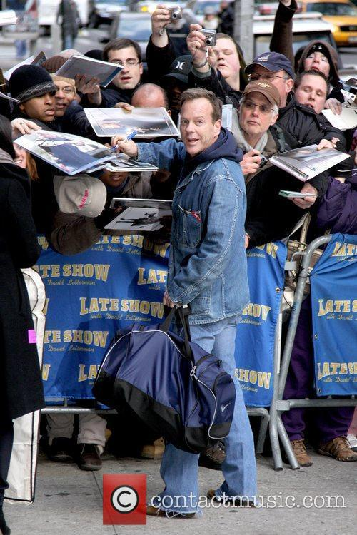 Kiefer Sutherland, David Letterman