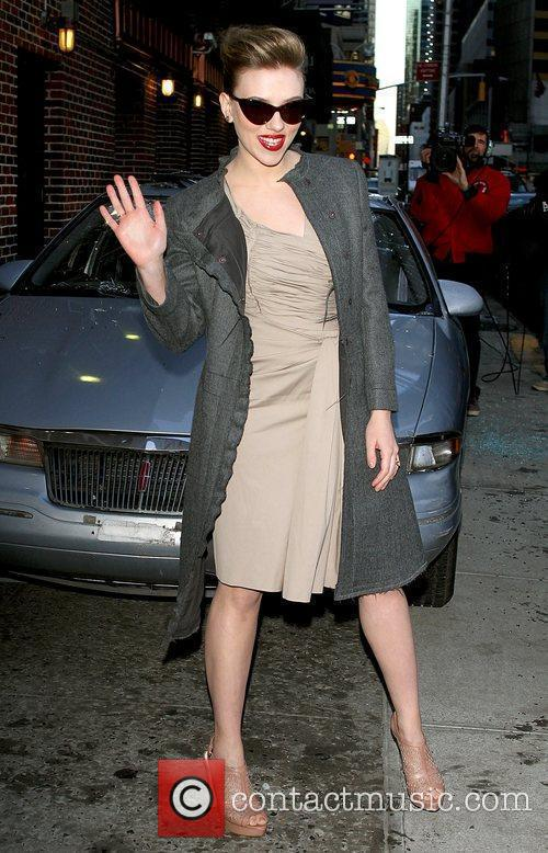Scarlett Johansson and David Letterman 2