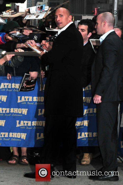 Dwayne Johnson and David Letterman 7