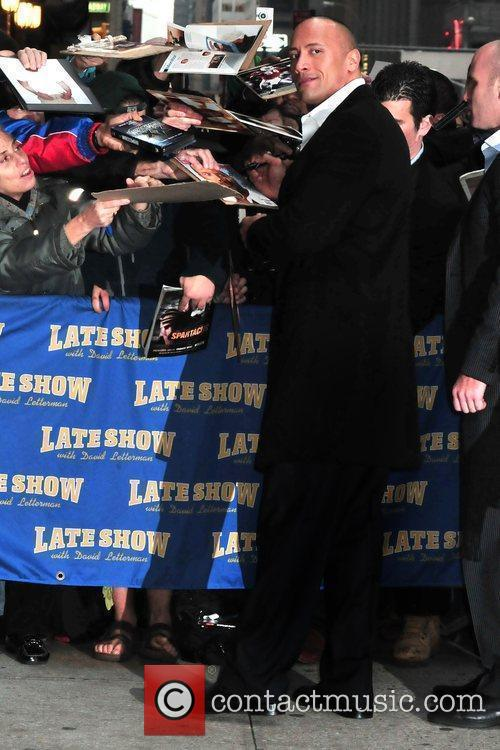 Dwayne Johnson and David Letterman 3