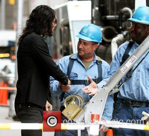 Russell Brand and David Letterman 12