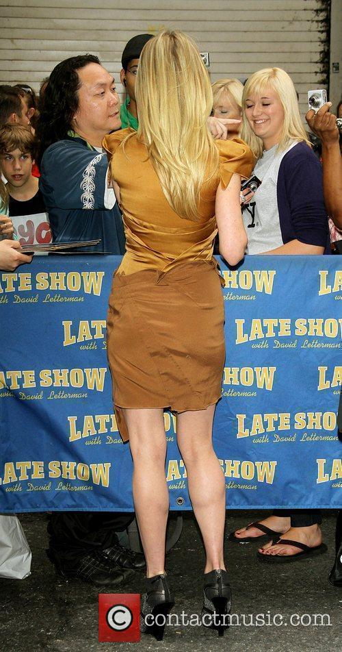 Anne Heche and David Letterman 16