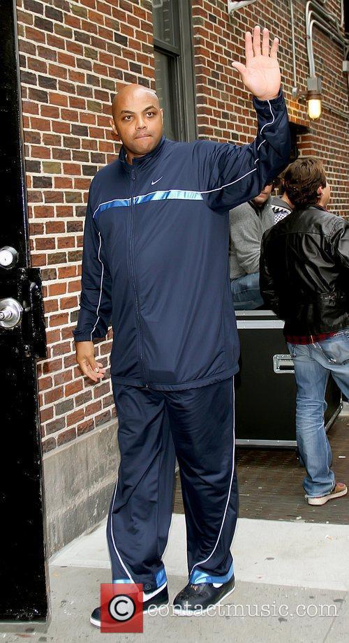 Charles Barkley Celebrities outside The Ed Sullivan Theater...