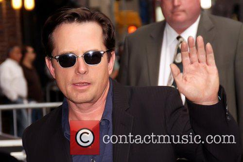 Michael J. Fox Celebrities outside The Ed Sullivan...