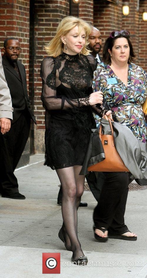 Courtney Love and David Letterman 23