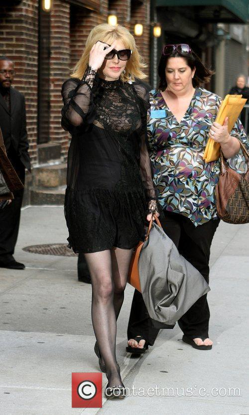 Courtney Love and David Letterman 13