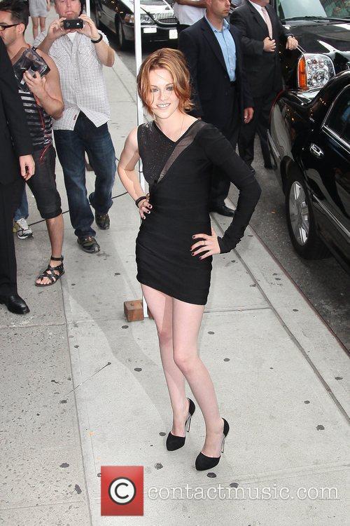 Kristen Stewart and David Letterman 6