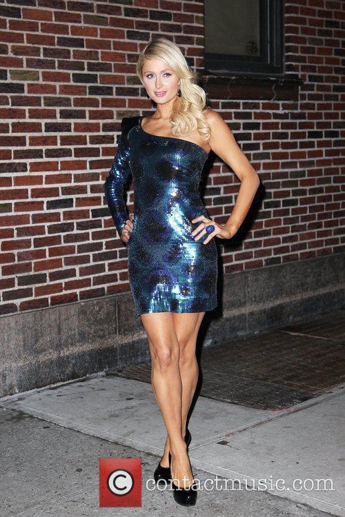 Paris Hilton and David Letterman 16