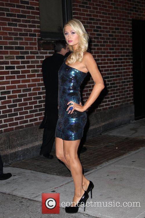 Paris Hilton and David Letterman 15