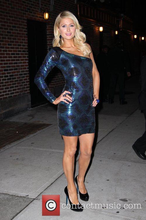 Paris Hilton and David Letterman 14