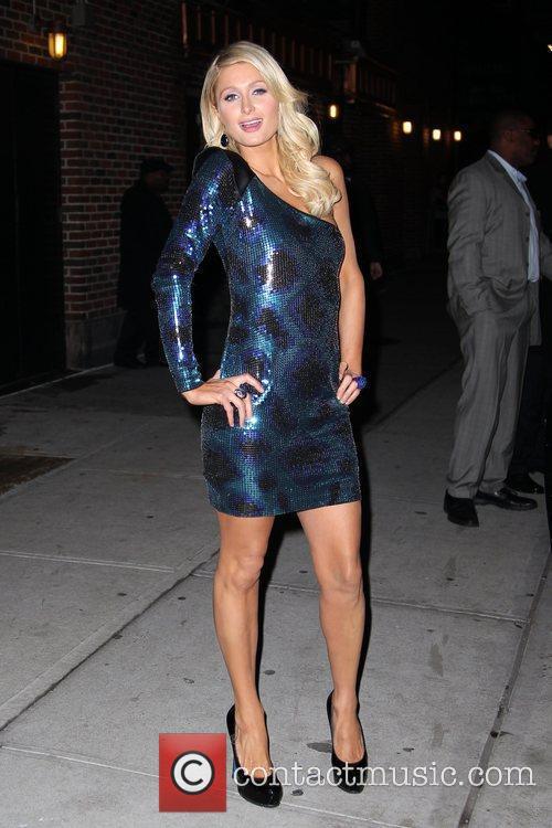 Paris Hilton and David Letterman 21
